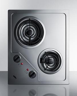 (CR2B224S) 2-Burner 230V Electric Cooktop Designed For Portrait