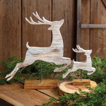 (Set Of 2) Wooden Reindeer