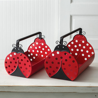 (Set Of 2) Ladybug Carriers