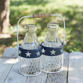 Americana Milk Glass Caddy