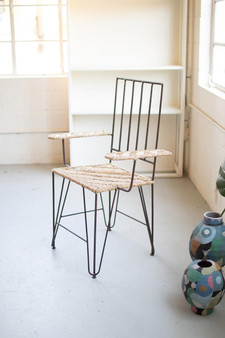 Iron And Seagrass Arm Chair