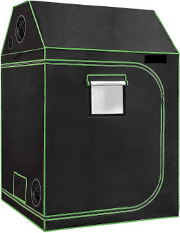 "48""X48""X72"" Indoor Grow Tent, Roof Cube Tent With Observation Window And Floor Tray For Plant Growing"