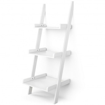 3 Tier Leaning Wall Ladder Display Planting Storage Rack (HW66906WH)