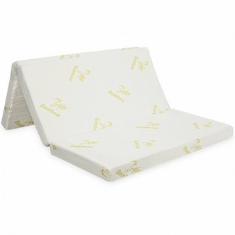 """4"""" Folding Foam Mattress Tri-Fold Sofa Bed Mat-Full Size (HT1138Full)"""