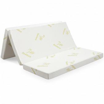 """4"""" Folding Foam Mattress Tri-Fold Sofa Bed Mat-Queen Size (HT1138Q)"""