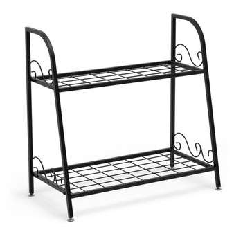 2-Tier Patio Metal Plant Stand (GT3532)