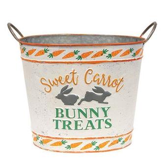 Sweet Carrot Bunny Treats Oval Bucket