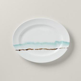 """873476"" Summer Radiance Dinnerware Oval Platter 16.0"