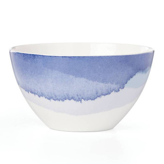 """865581"" Indigo Wtrclr Floral Dinnerware Ap Bowl"