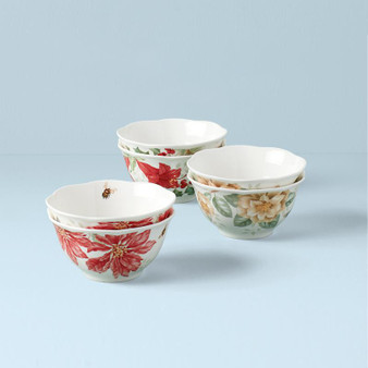 """""""880092"""" Butterfly Mdw Hol Dinnerware Rice Bowls S/6"""