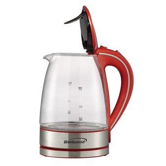 1.7-Liter Cordless Tempered-Glass Electric Kettle (Red) (BTWKT1900R)