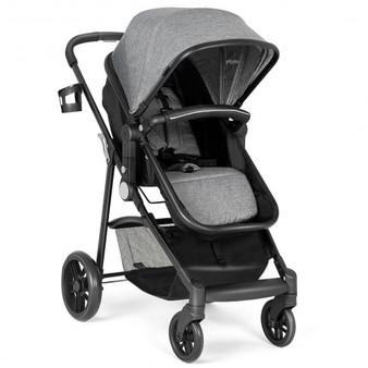 """BB5636GR"" 2-In-1 Foldable Pushchair Newborn Infant Baby Stroller-Gray"
