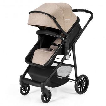 """BB5636CF"" 2-In-1 Foldable Pushchair Newborn Infant Baby Stroller-Coffee"