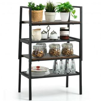 """HW66424-2"" 4-Tier Storage Stackable Shoe Shelf Display Rack For Home"
