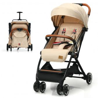 """BB5624BE"" Lightweight Aluminium Frame Baby Stroller With Net-Beige"