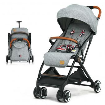 """BB5624GR"" Lightweight Aluminium Frame Baby Stroller With Net-Gray"