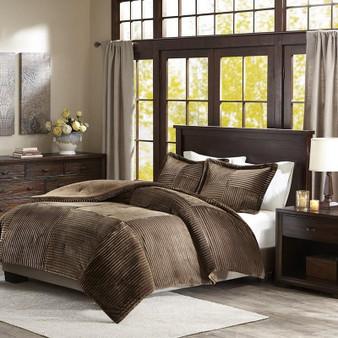 Madison Park Corduroy Plush Comforter Mini Set -Full/Queen BASI10-0421