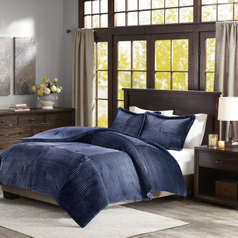 Madison Park Corduroy Plush Comforter Mini Set -Full/Queen BASI10-0424