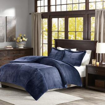 Corduroy Plush Comforter Mini Set -King/Cal King BASI10-0425
