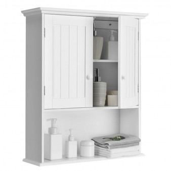 Wall-Mounted Bathroom Medicine Cabinet-White (HW66930WH)