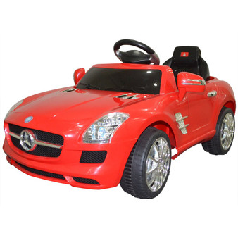 New Red Mercedes Benz Sls R/C Mp3 Kids Ride On Car Electric Battery Toy-Red (TY311749RE)