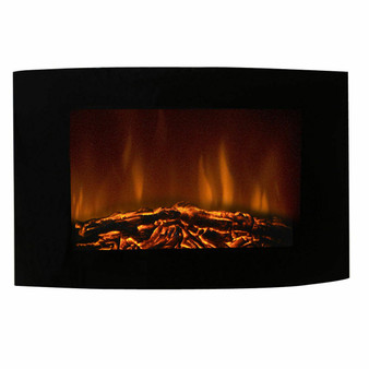 """35"""" Electric Wall Mount Fireplace Heater With Remote (HW48543)"""