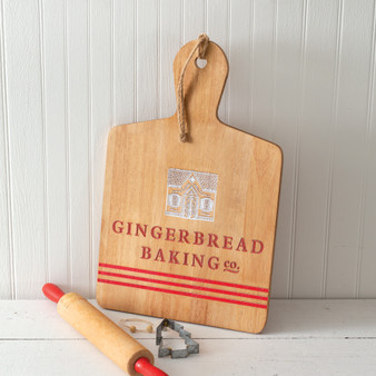Gingerbread Baking Wood Cutting Board