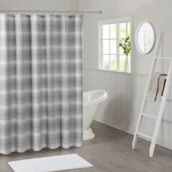 Sade Ombre Waffle Weave Shower Curtain - MP70-6712
