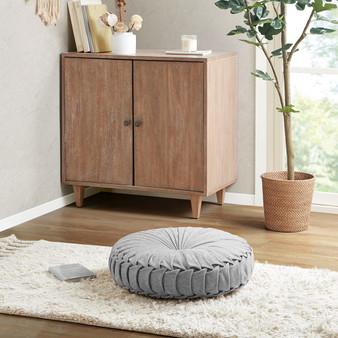 Loretta Poly Chenille Round Floor Pillow Cushion - ID31-2033