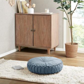 Loretta Poly Chenille Round Floor Pillow Cushion - ID31-2034