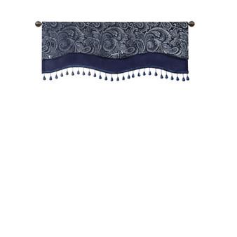 Aubrey Jacquard Window Rod Pocket Valance With Beads - MP41-7425