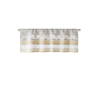 Dawn Printed And Pieced Rod Pocket Valance - MP41-7397