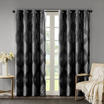 Bentley Ogee Knitted Jacquard Total Blackout Panel - SS40-0214