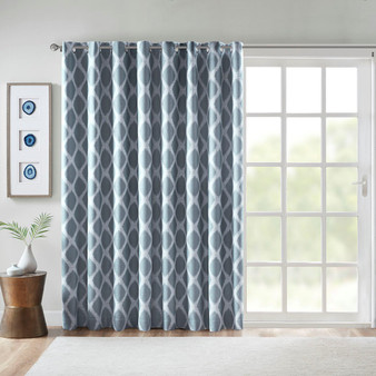 Blakesly Printed Ikat Blackout Patio Curtain - SS40-0183