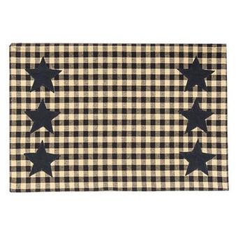 Black & Tan Check Star Applique Placemat G54063