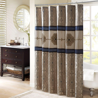 Donovan Embroidered Shower Curtain MP70-7543