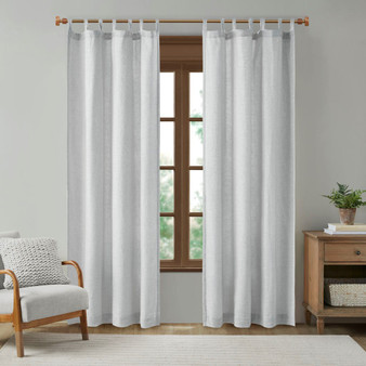 Beals Faux Linen Tab Top Panel With Fleece Lining MP40-7497
