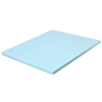 "4"" Gel Injection Memory Foam Mattress Top Ventilated Mattress Double Bed-King Size ""HU10052-K"""