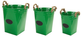 Buckets With Chalkboard (Set Of 3) - (Pack Of 2) 58365