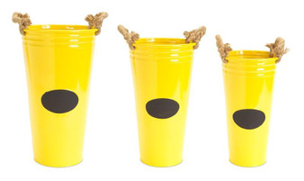 Buckets With Chalkboard (Set Of 3) - (Pack Of 2) 58366