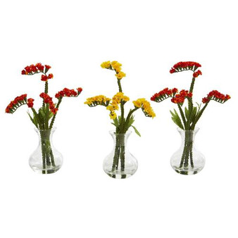 "10"" Baby Breath Artificial Arrangement In Vase (Set Of 3) (A1167-S3)"