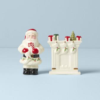 Holiday Santa & Fireplace Salt & Pepper (893502)