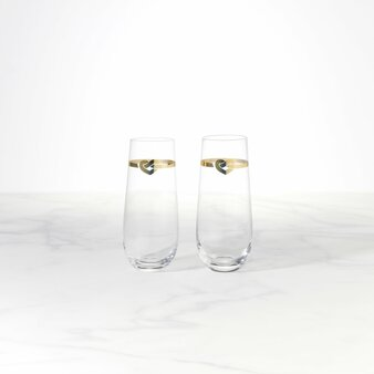With Love 2-Piece Stemless Toasting Flutes (890016)