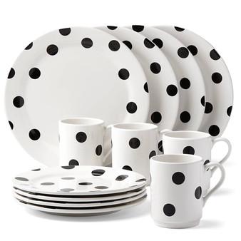 Deco Dot 12-piece Dinnerware Set (857725)