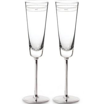 """Darling Point """"Mr."""" and """"Mrs."""" 2-piece Champagne Flute Set (792160)"""