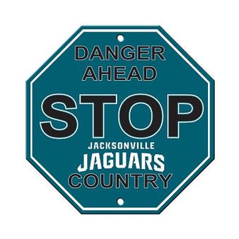 Jacksonville Jaguars Plastic Stop Sign 90536
