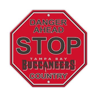 Tampa Bay Buccaneers Plastic Stop Sign 90538