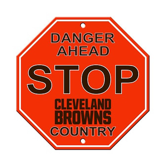 Cleveland Browns Plastic Stop Sign 90542