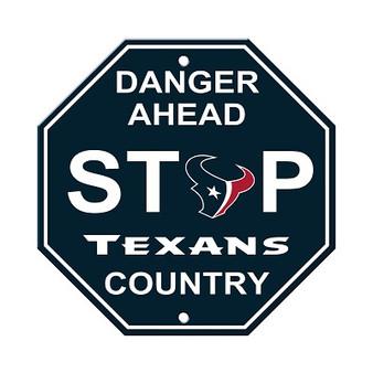 Houston Texans Plastic Stop Sign 90563