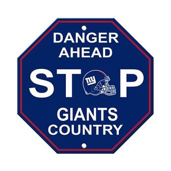 New York Giants Plastic Stop Sign 90575
